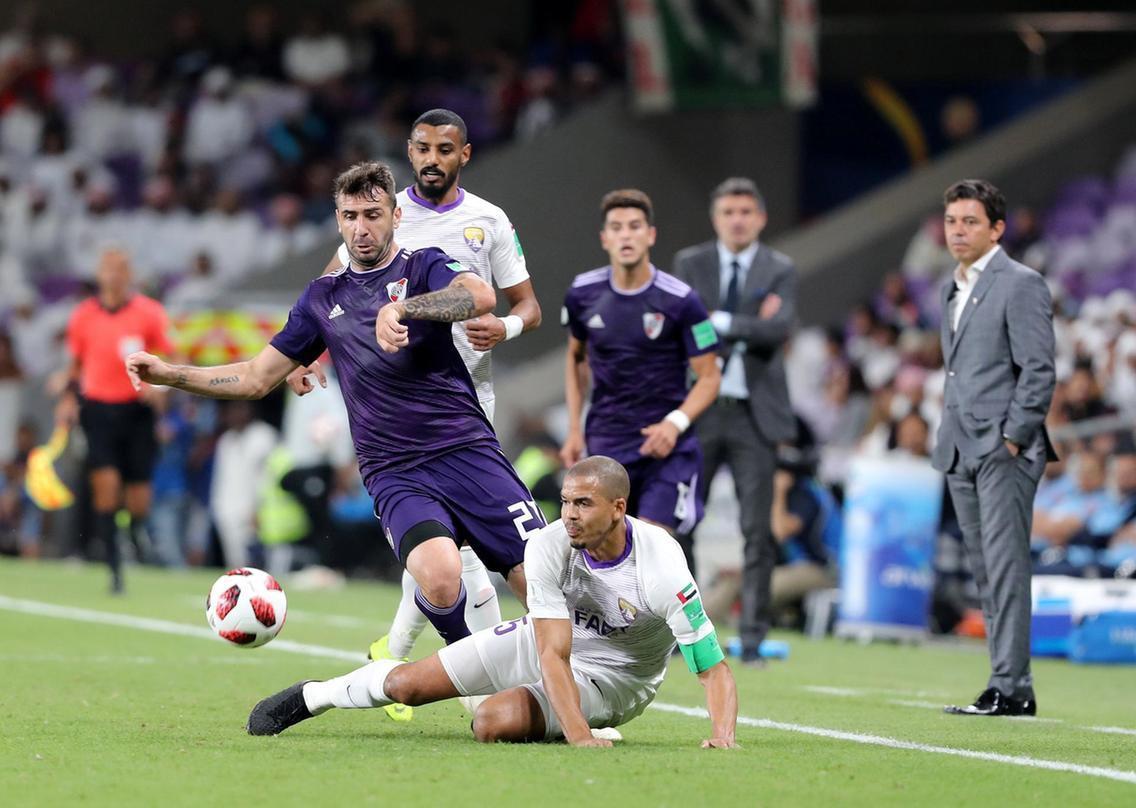نیمه نهایی جام باشگاه های دنیا؛ العین2 (5) - ریورپلاته 2 (4) ، تاریخ سازی رئیس ها مقابل برنده فینال قرن