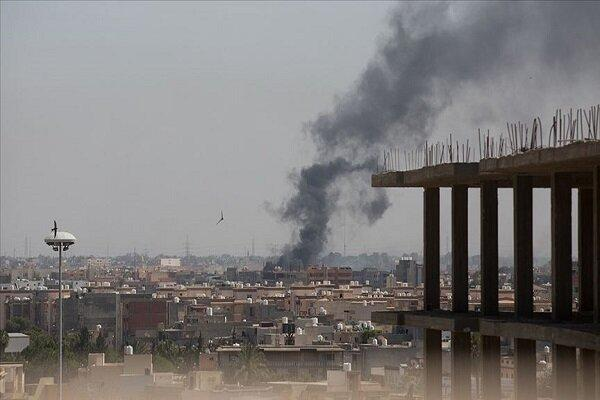 حمله موشکی به فرودگاه معیتیقه طرابلس در لیبی