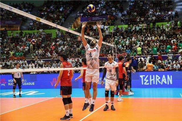 پیروزی تیم ملی والیبال ایران مقابل کره جنوبی