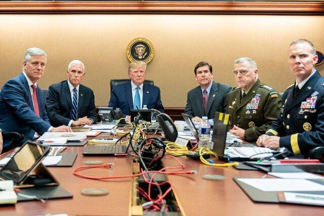 مقایسه وضعیت ترامپ و اوباما هنگام تماشای کشتن بغدادی و بن لادن
