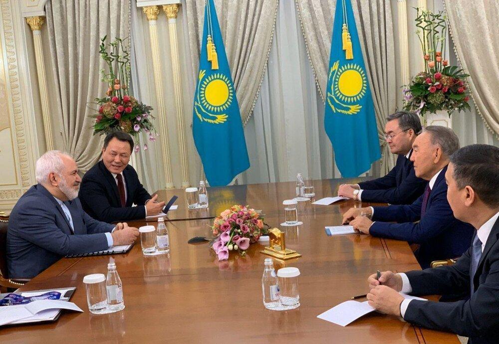 ظریف با نظربایف ملاقات کرد