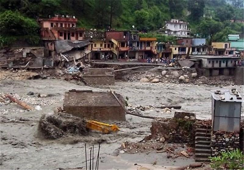 افزایش تلفات سیل و رانش زمین در هند به بیش از 550 کشته