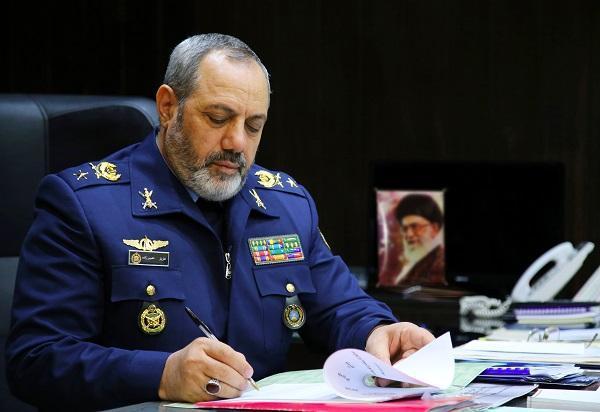 پیام فرمانده نهاجا در پی شهادت سرهنگ خلبان رحمانی