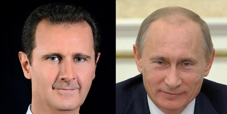 پوتین در گفت وگو با اسد:توافق مسکو در راستای تضمین حاکمیت سوریه است