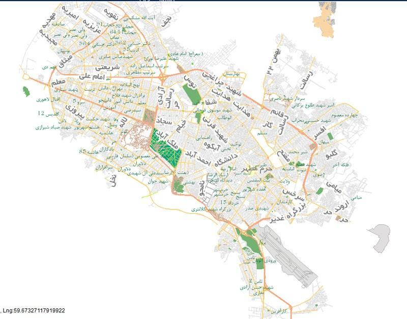 تاریخچه و نقشه جامع شهر مشهد در ویکی خبرنگاران
