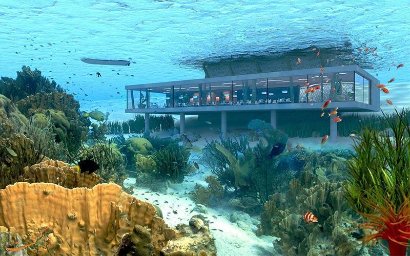 هتل زیردریایی زنگبار تانزانیا که در سال 2020 افتتاح خواهد شد!