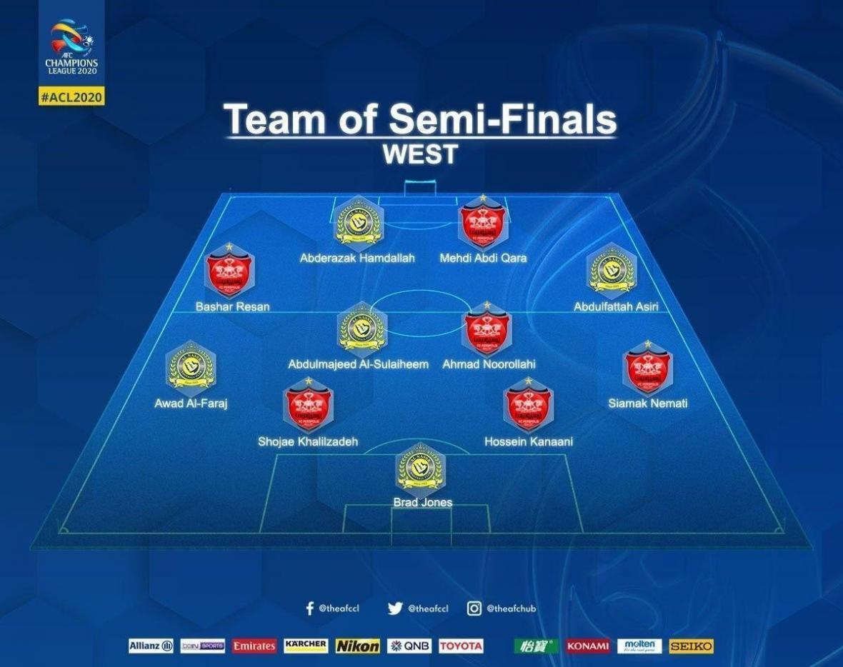 6 پرسپولیسی در تیم منتخب نیمه نهایی لیگ قهرمانان آسیا