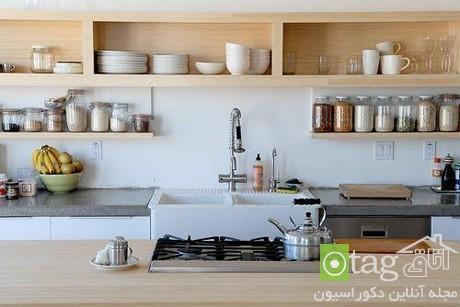 آشنایی با مدل های جدید و کاربردی جاظرفی و قفسه آشپزخانه
