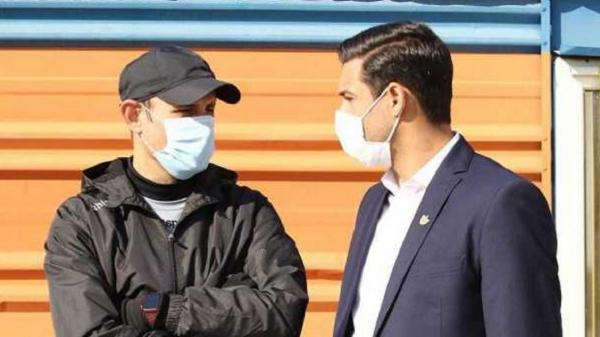 جلسه شکوری و گل محمدی پس از تمرین پرسپولیس