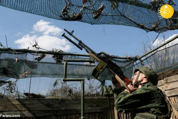(تصاویر) خط مقدم جدایی طلبان شرق اوکراین